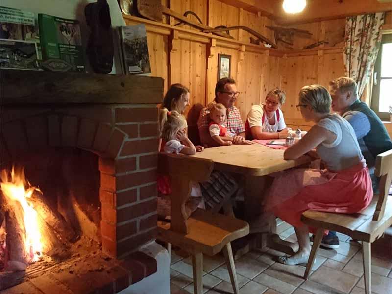 Gäste in der Poschnhütte