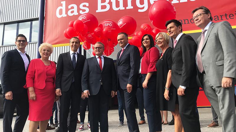 SPÖ-Team vor Parteitag
