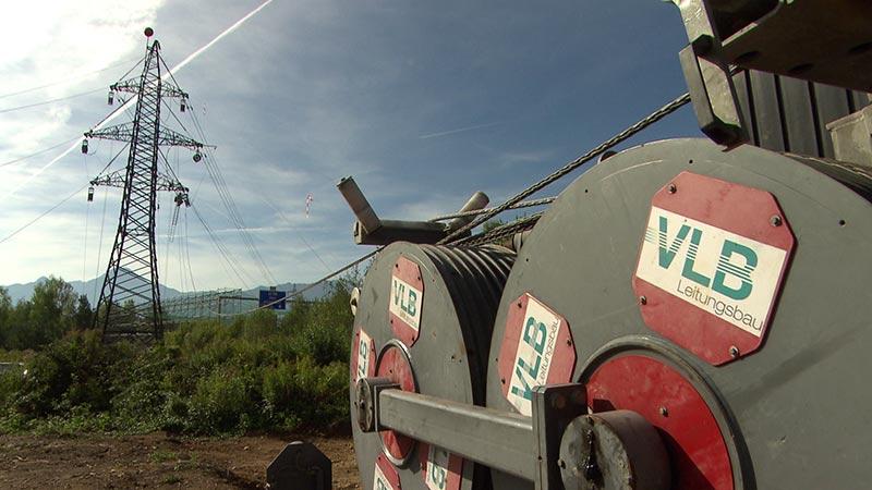 Bau 110 kV Leitung Villach Gerüste
