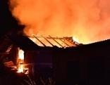 Brand eines Wirtschaftsgebäudes eines Bauernhofes