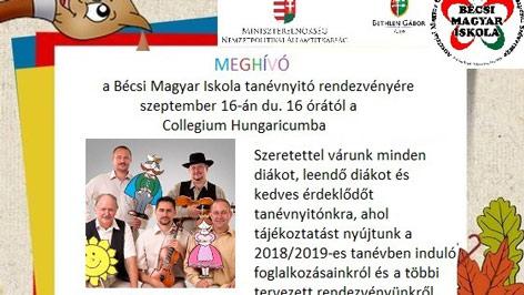 Évnyitó bécsi magyar iskolák