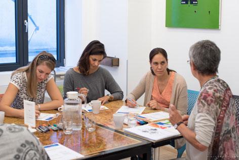 Szakmai újrakezdés és továbbképzés workshop Femspace WAFF Bécs Loffice