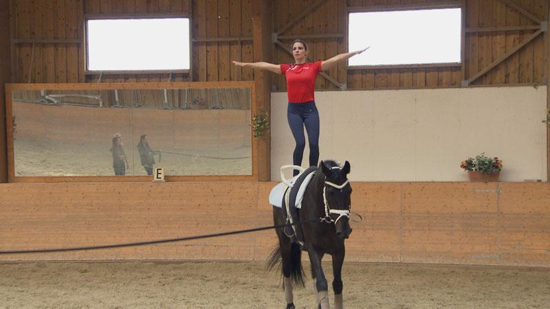 Daniela Fritz mit ihrem Pferd Fairytale