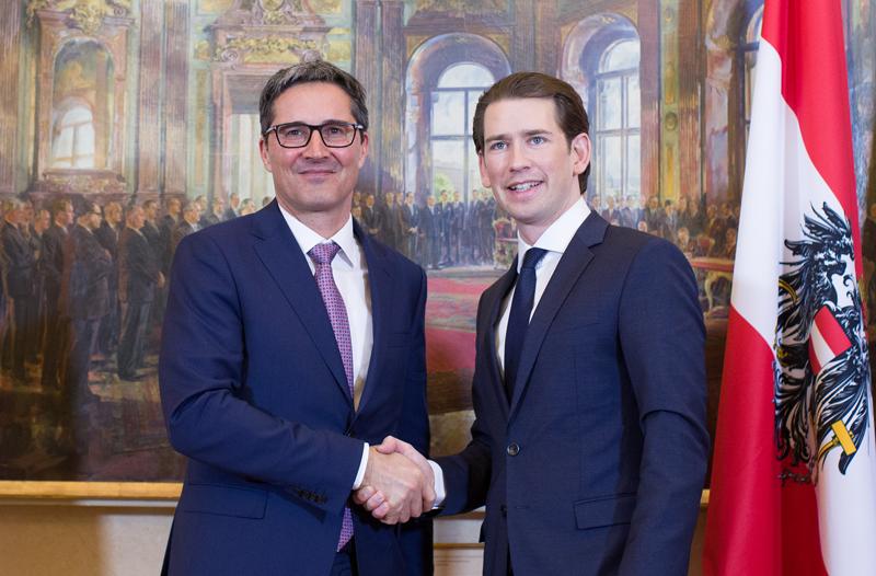 Südtirols Landeshauptmann Arno Kompatscher und Bundeskanzler Sebastian Kurz
