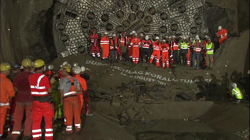 Koralmbahn Tunnel Durchstich offiziell