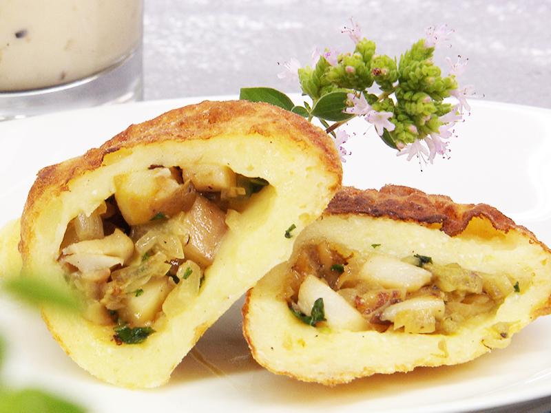 GUMÖ Rezept 17.9. Langenegg Steinpilz gefüllte Kartoffelküchle