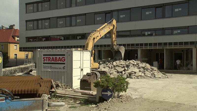 LKH Villach Baustelle