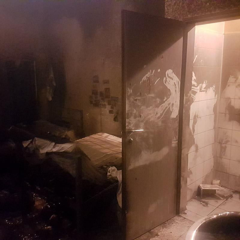 Abgebranntes Zimmer