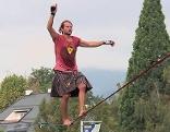 Slakline Weltrekord Villach