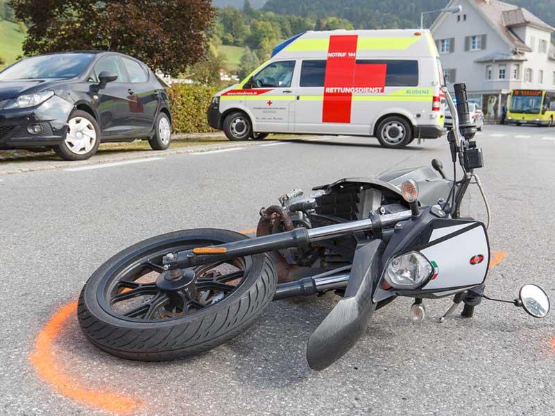 Mopedunfall Bludesch