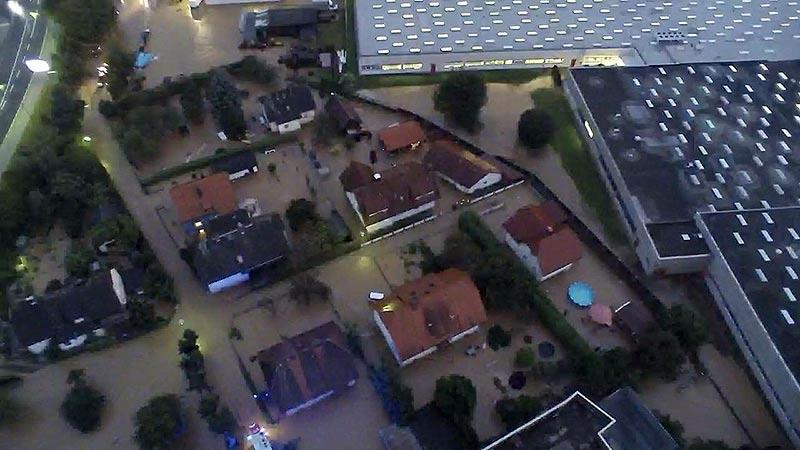Unwetter, Gewitter, Hagel, Brand Klagenfurt
