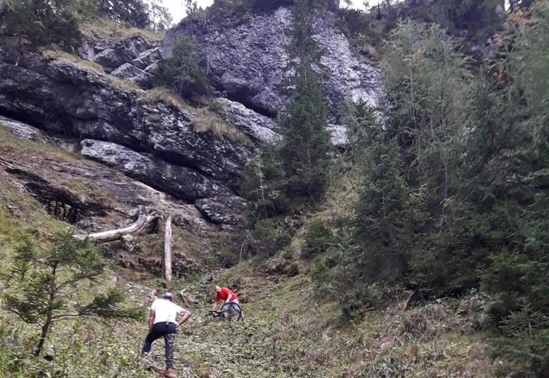 Bergung von abgestürztem Mountainbiker