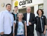 Caritasdirektor Hannes Ziselsberger, Stefan Kienmeier, Martina Zubrinic, Diözesanbischof Alois Schwarz und carla-Leiterin Monika Steiner
