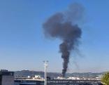 Brand in Linzer Hafen