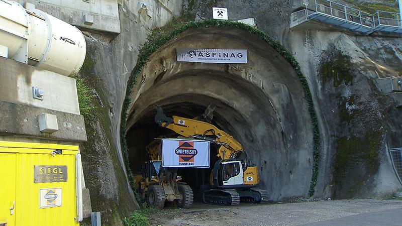 Vollausbau Karawankentunnel Tunnelanstich Feier