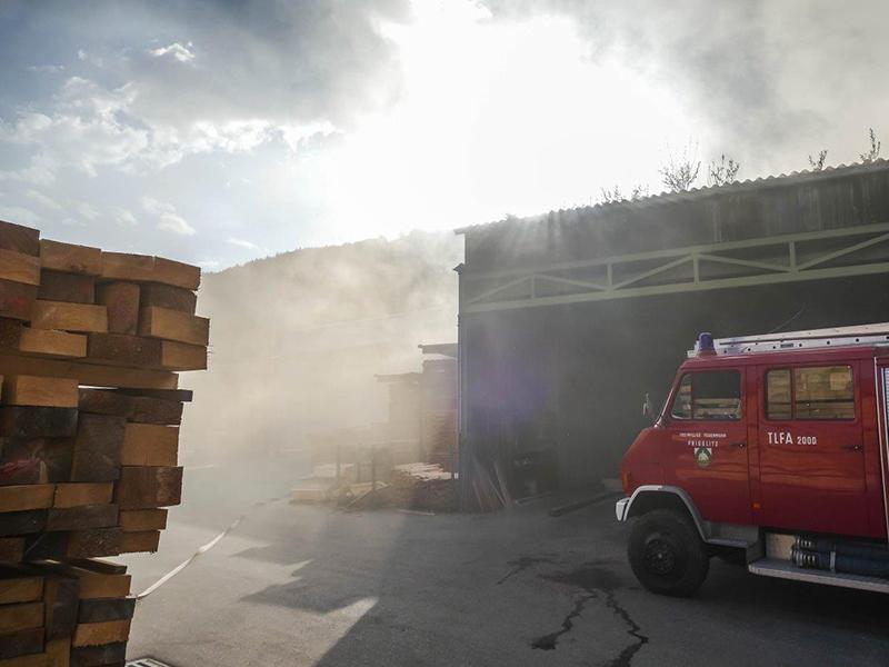 Brand Sägewerk Prigglitz