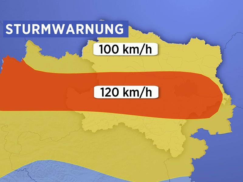 Sturm Warnung Böen Niederösterreich