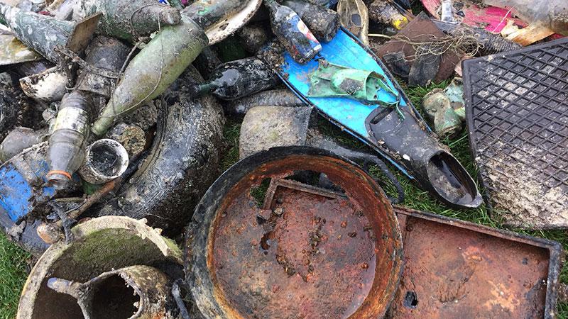 Tauchen Wörthersee Reinigung Müll