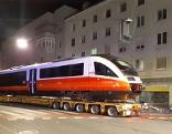 Zugtransport durch Linz