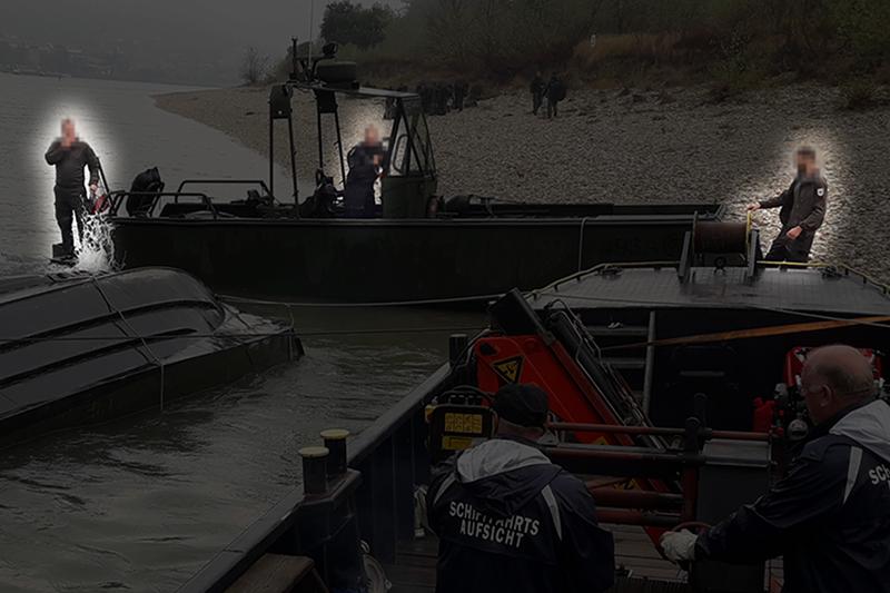 Fotos vom Bootsunfall auf der Donau