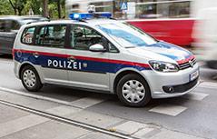 Polizeiauto am Wiener Ring