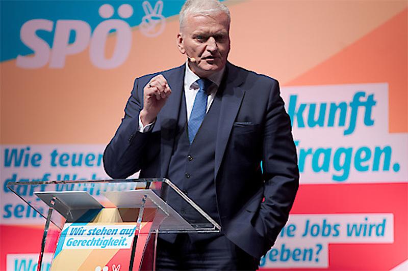 Franz Schnabl SPÖ Parteitag Schwechat