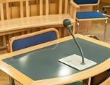Verhandlungssaal im Straflandesgericht Wien
