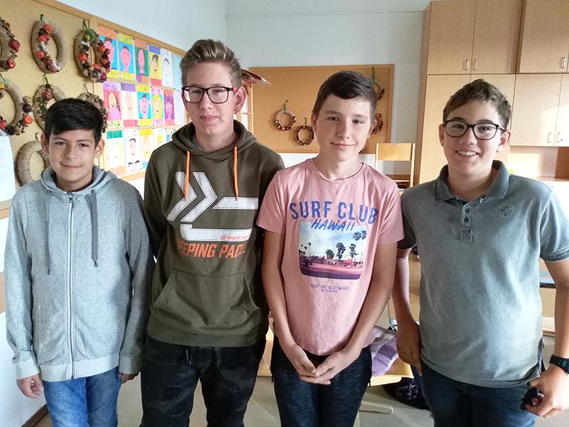 David, Gregor, Niklas und Matthias