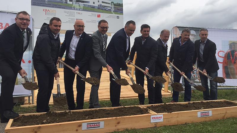 Baustart für Parkgarage Krankenhaus Oberwart