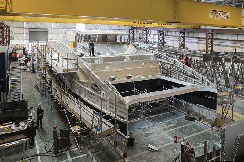 Bau des dritten Twin City Liners