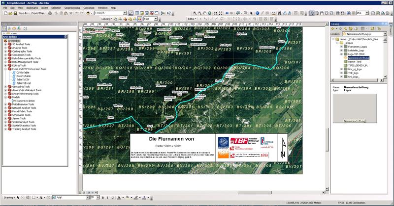 Screenshot aus den Beareitungssystemen