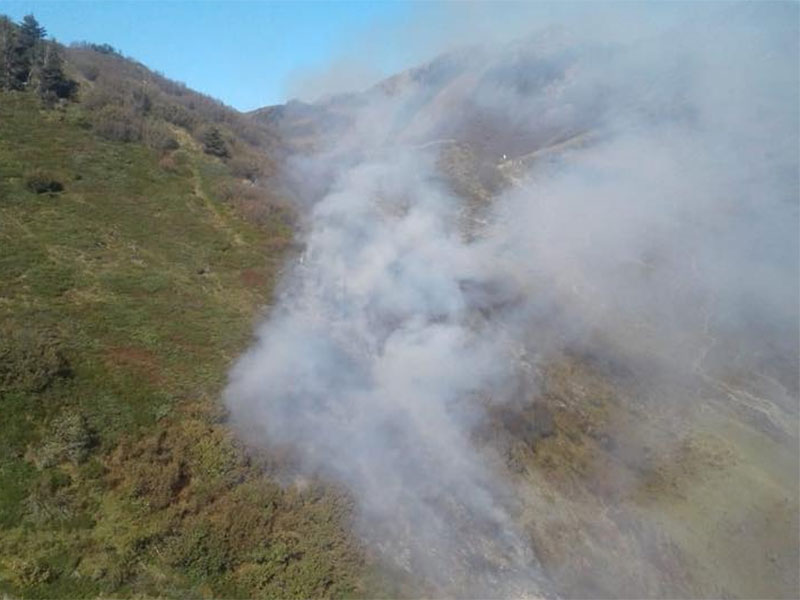 Brand in den Bergen