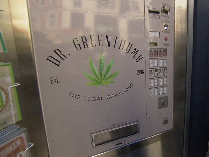 Cannabis Gras Hanf Automat