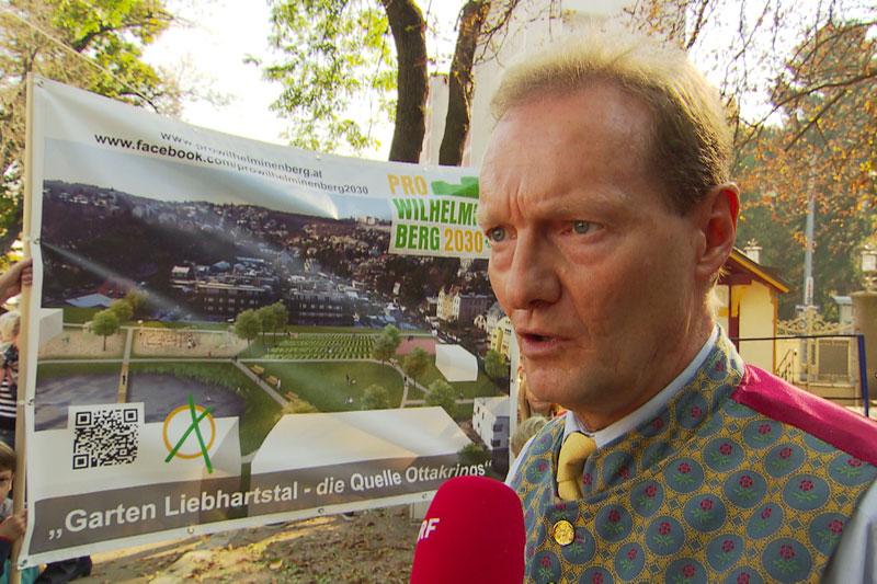 Wilhelminenbegr Grünflächen Streit Wohnabuprojekt