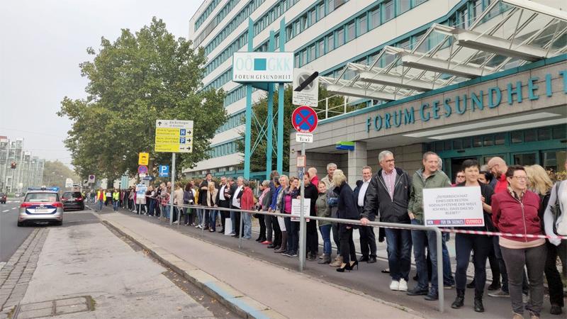 Protest Kassenreform OÖGKK