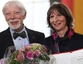 Die Wissenschaftlerin Aleida Assmann (re) und ihre Ehemann Jan Assmann anlässlich der Verleihung des Friedenspreises des Deutschen Buchhandels in Frankfurt, 14.10.2018