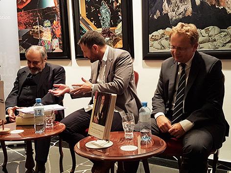 Mohorjeva predstavitev knjig Petrič Rahten veleposlanika bivša nekdanja Bojan Wakounig