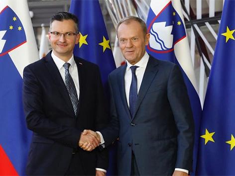 Marjan Šarec EU Bruselj Donald Tusk