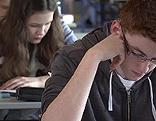 Schüler bei Prüfung