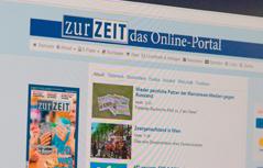 Website von Zur Zeit