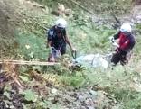 Bergung nach Unfall bei Waldarbeit