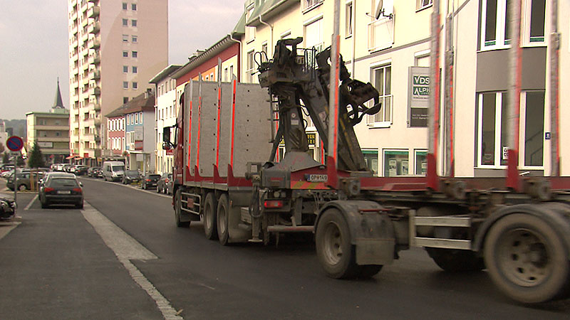 Bahnstraße Oberwart, LKW