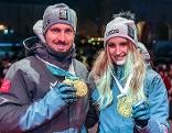 Marcel Hirscher und Anna Gasser