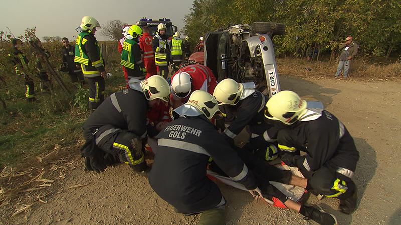 Katastrophenschutzübung in Gols