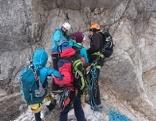 Klettersteig Lärchenturm Koschuta Rettung Bergnot