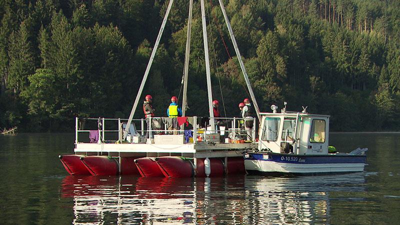 Bundeslandfenster Seegeologie Seenforschung Sedimentproben