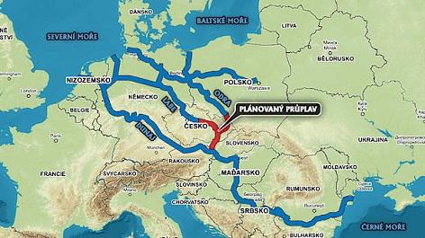 Plán Kanálu Dunaj-Odra-Labe
