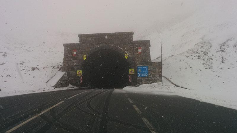 Schnee Großglockner Hochalpenstraße
