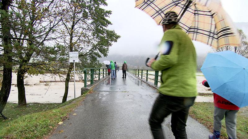 Reisach Gail Fluss Hochwasser