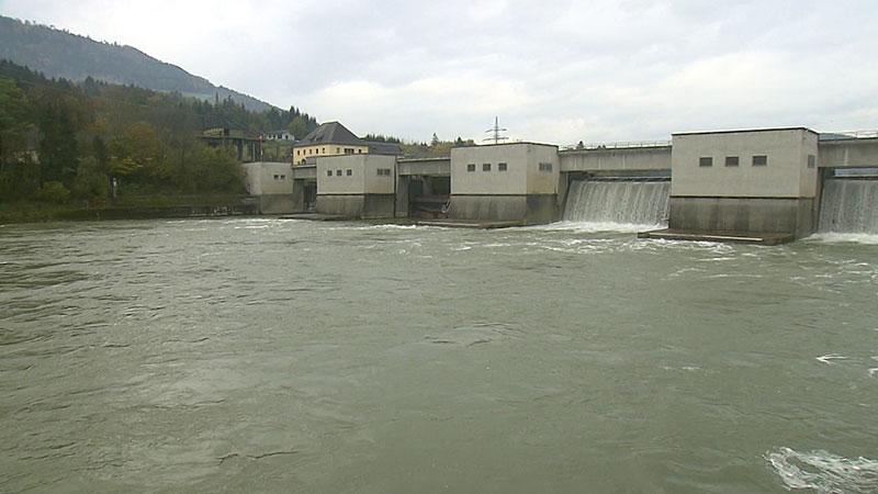 Hochwasser Lavamünd Kraftwerk Verbund